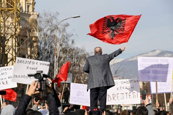 Albanian protest in Macedonia