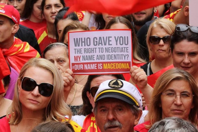 Macedonian protests for human rights