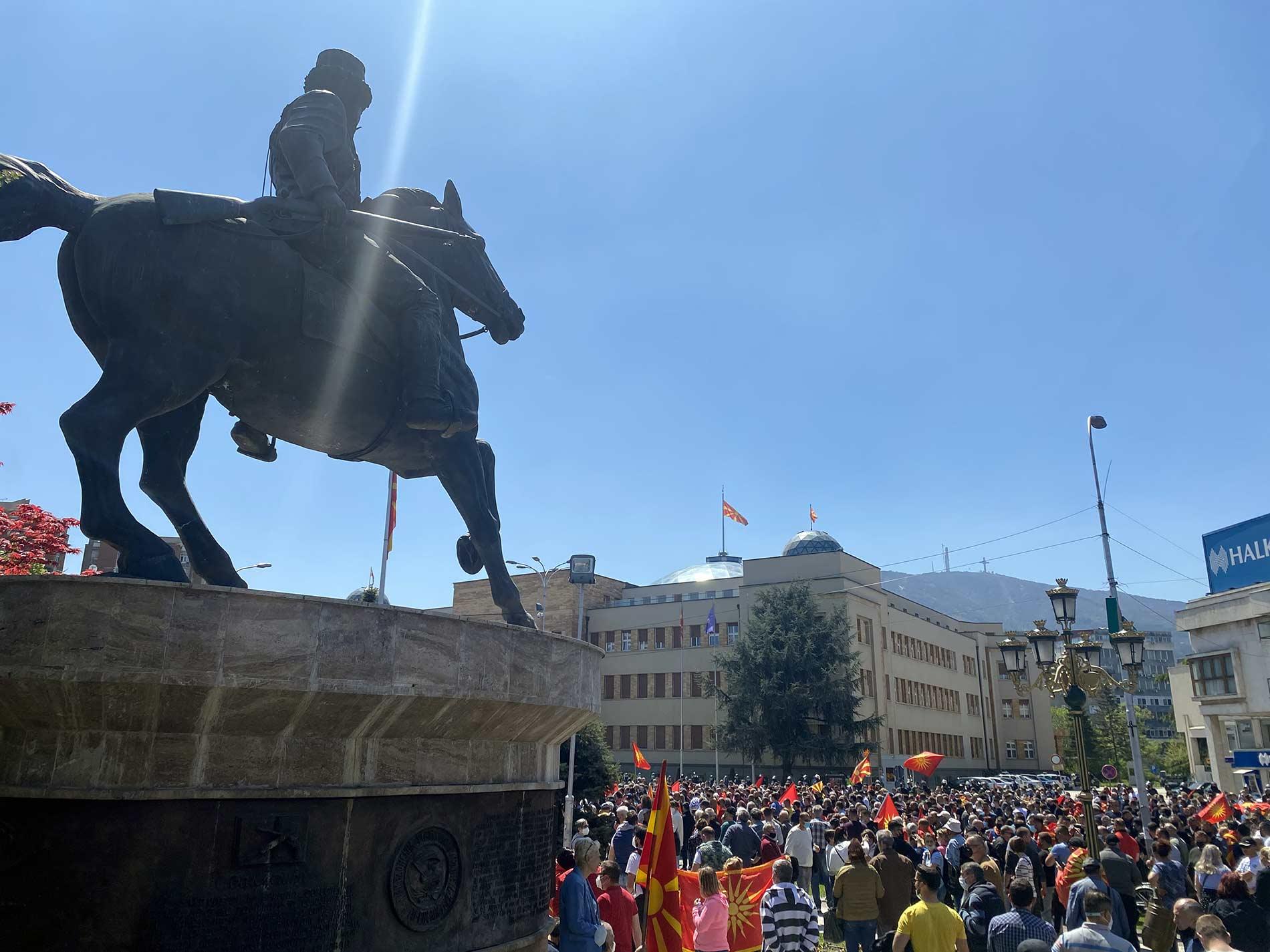 Skopje protest 2021