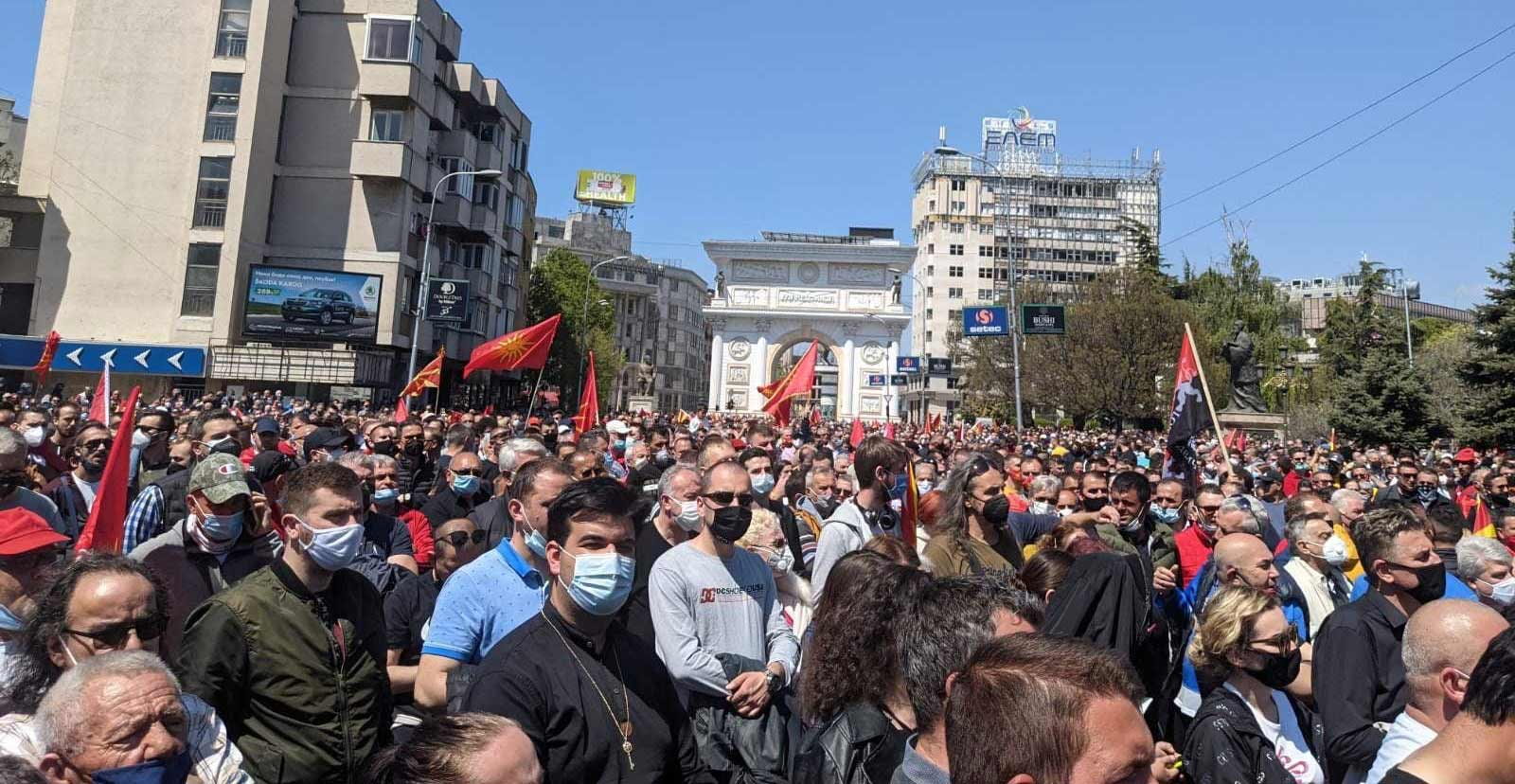 large skopje protest in Macedonia