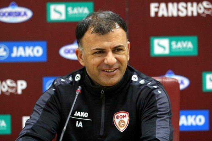 Macedonia coach Igor Angelovski