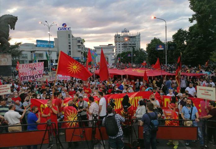 Macedonian protest may