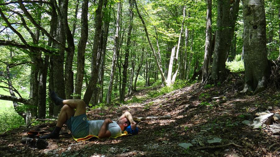 Korab waterfall hike relax