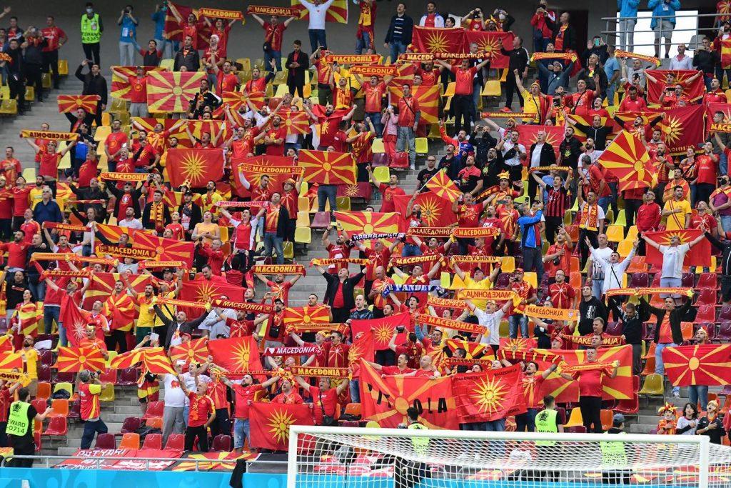 Macedonia fans at euro2020